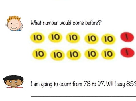 Counting to 20 / 100 / 1000