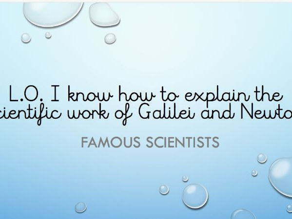 Isaac Newton Famous Scientist Plan Powerpoint