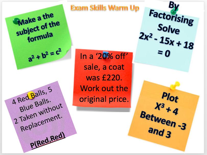 GCSE Skills Starters