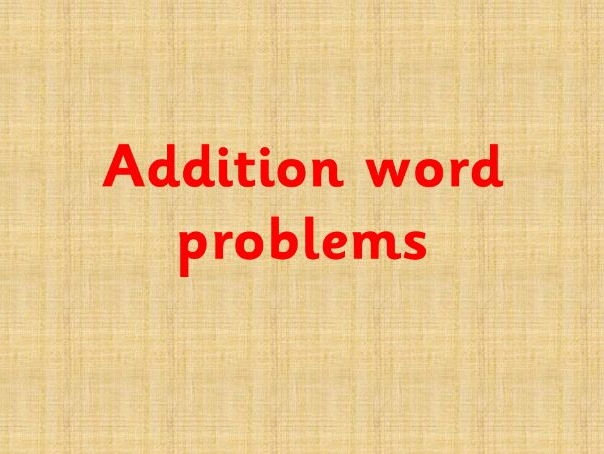 Pet Addition Word Problems