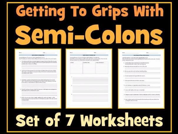Semicolon homework helper – Semicolon Worksheets