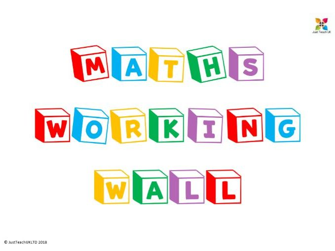 Maths wall display lettering