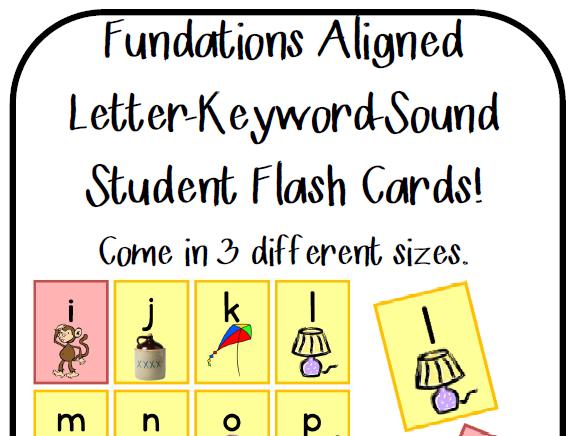 Letter Keyword Sound Flashcards: Fundationstastic!