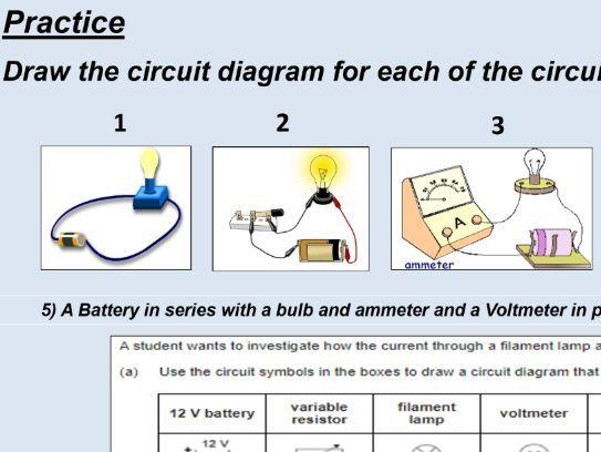 GCSE Physics (4.2.1.1) Electricity - Standard circuit diagram symbols (AQA lesson)
