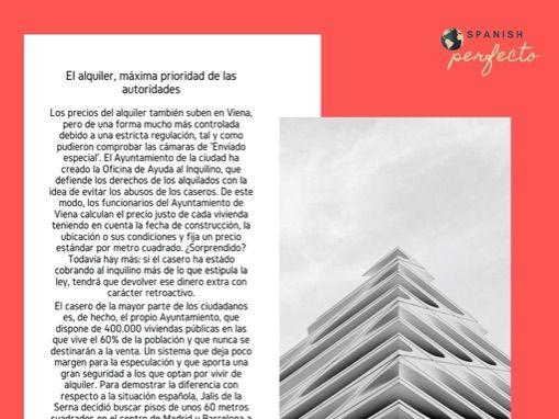 El alquiler en Viena y el alquiler en España