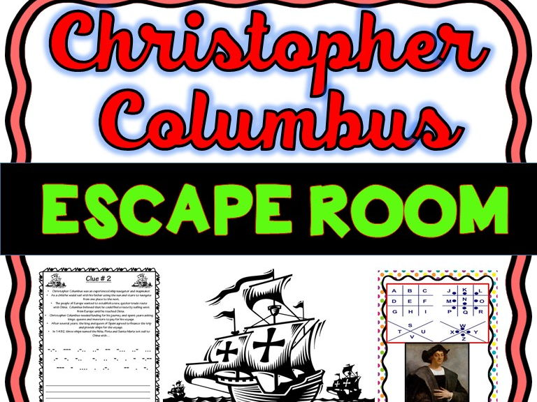 Christopher Columbus Escape Room - No Prep!