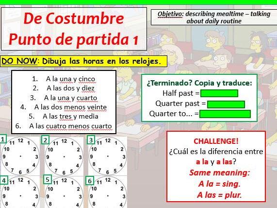 COMPLETE VIVA GCSE FOUNDATION module 6 - DE COSTUMBRE - PUNTO DE PARTIDA 1 pptx