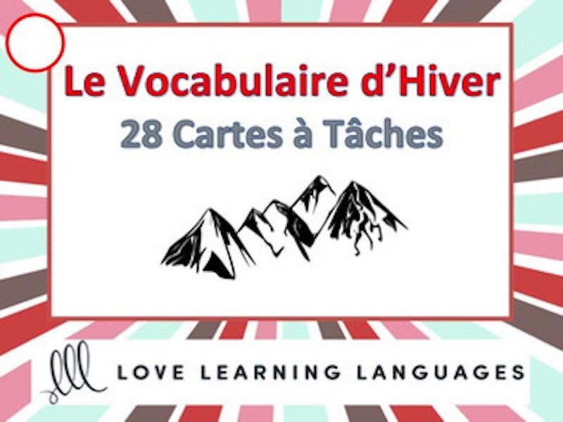 GCSE FRENCH: Le Vocabulaire d'Hiver Task Cards - Cartes à Tâches