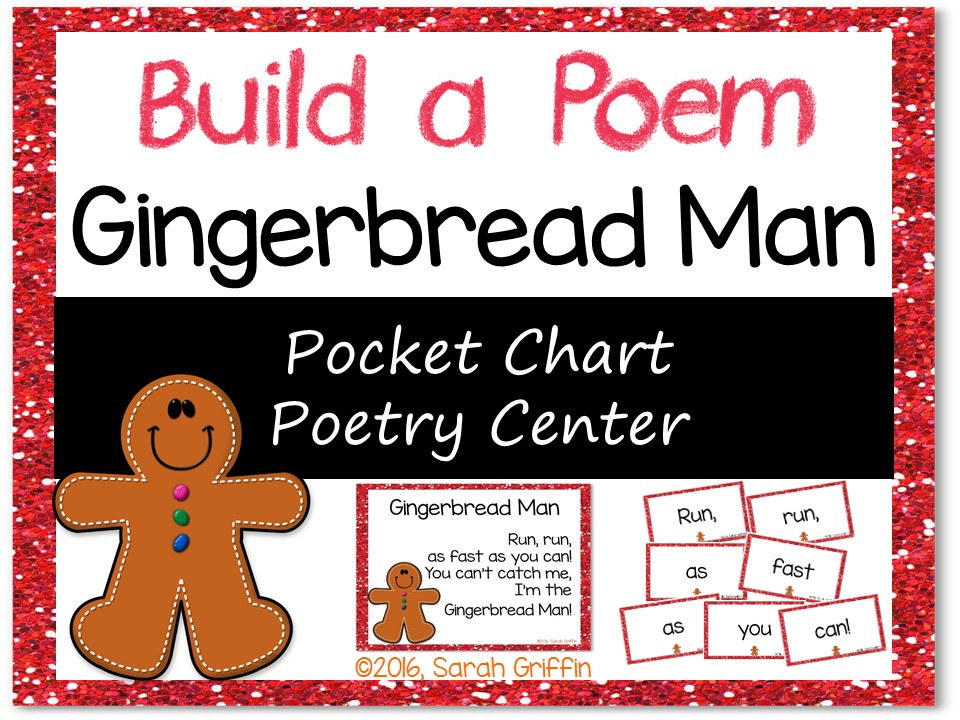 Build a Poem: Gingerbread Man - Pocket Chart Center