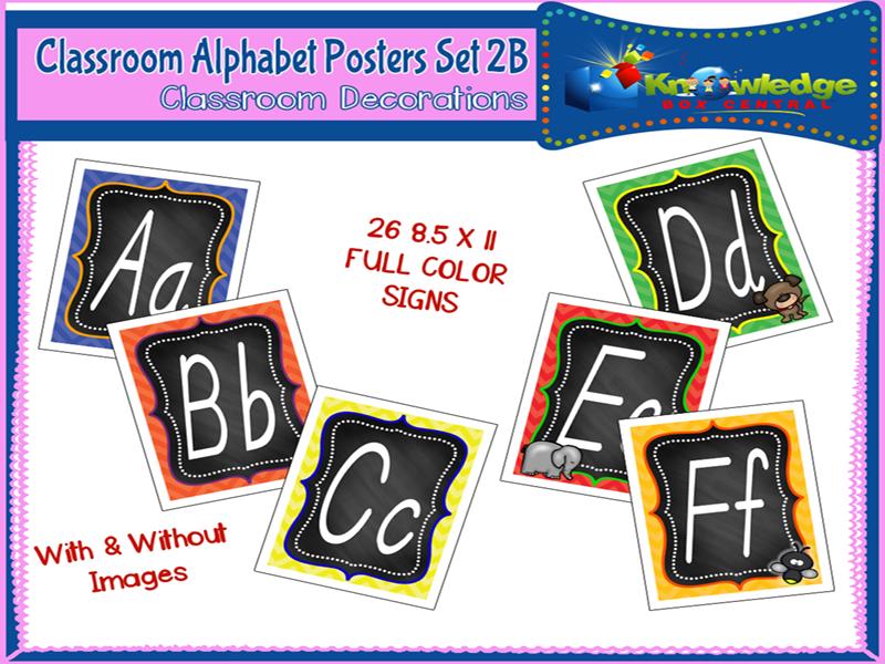 Alphabet Posters Set 2B