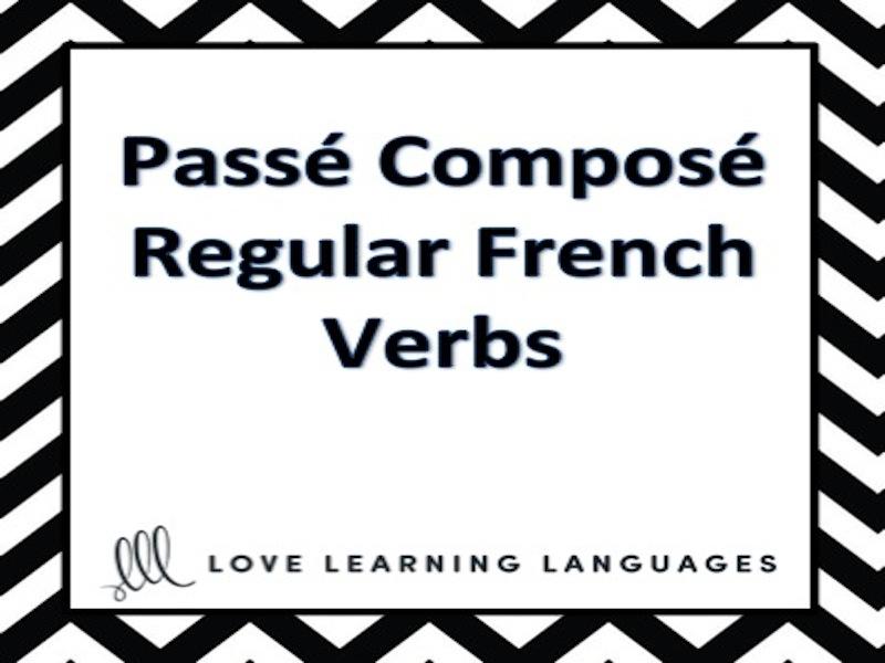 GCSE FRENCH: Passé Composé of Regular French Verbs Lesson - Verbes Réguliers