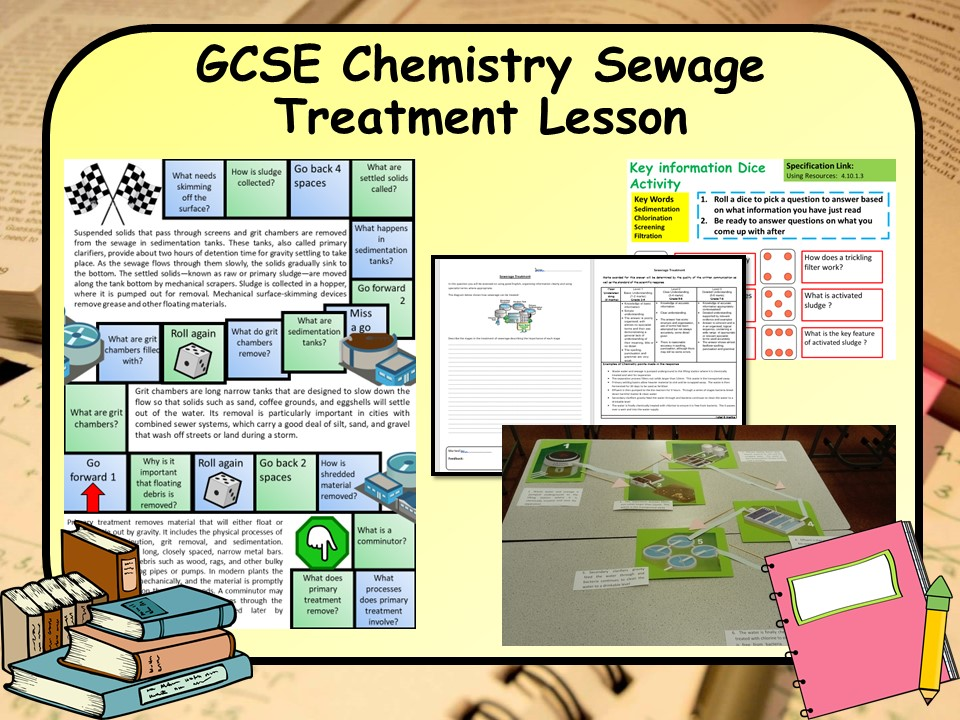 New GCSE Chemistry (Science) Sewage Treatment Lesson