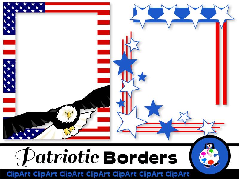 Patriotic American Page Border Clip Art