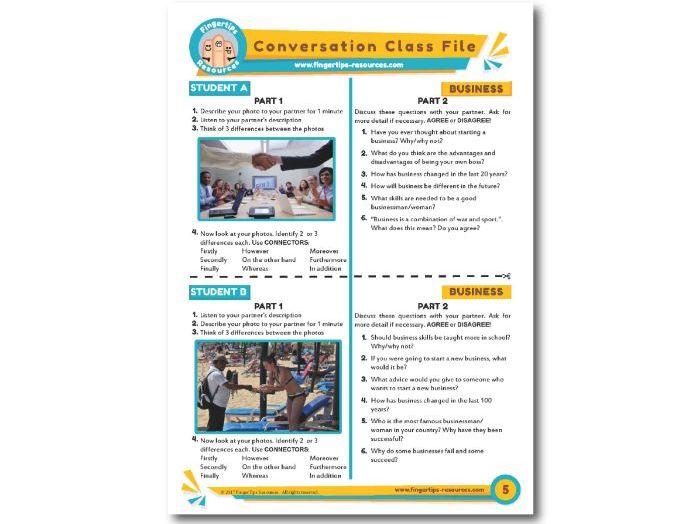 Business - ESL Conversation Activity