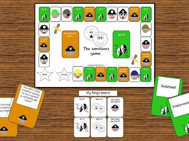 ELSA SUPPORT - Emotions board game - Emotional Intelligence/literacy, PSHE, mental health