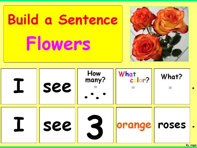 Building Sentences - Flowers