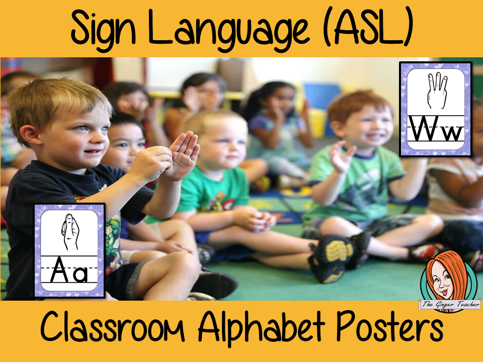 Sign Language ASL Classroom Posters