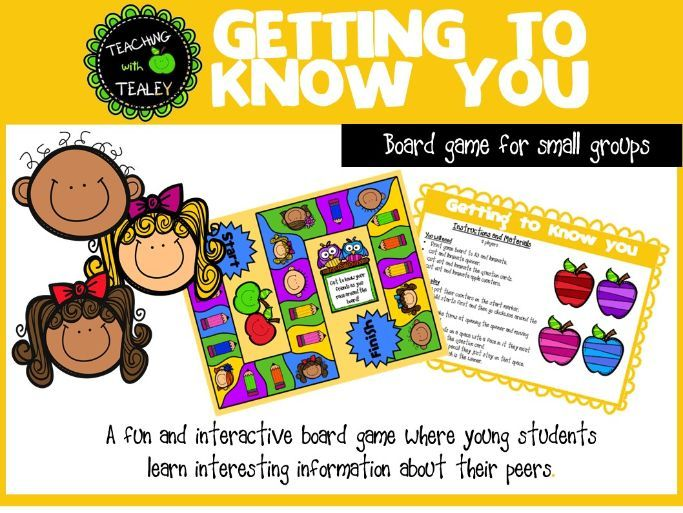 Back to School Board Game - Getting to know you