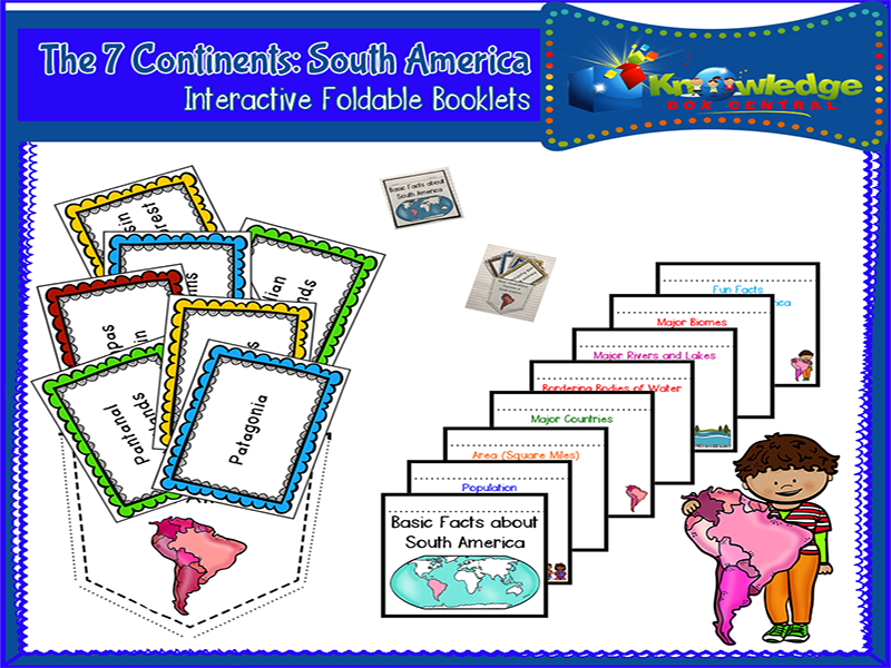 The 7 Continents: South America Interactive Foldable Booklets
