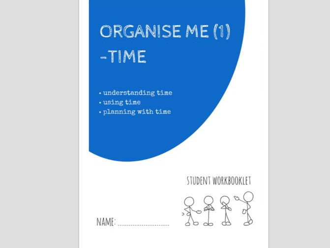 SPECIAL EDUCATION - ORGANISE ME (1) - READING AND USING TIME workbooklet