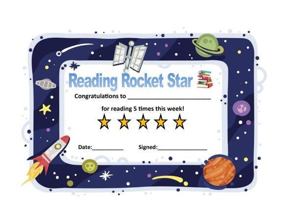 Reading Rocket Certificate