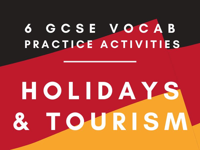 GCSE German 'Holidays' Vocabulary Worksheet