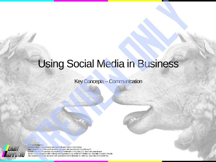 BTEC IT - Unit 3 - Using Social Media in Business - Communication