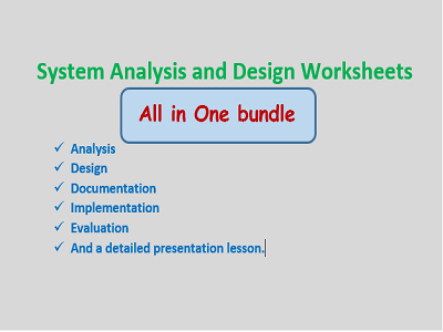 System Analysis Worksheets for IGCSE/GCSE ICT