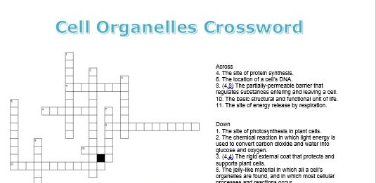 New (2016) AQA GCSE Biology Revision Crosswords: Cells Topic