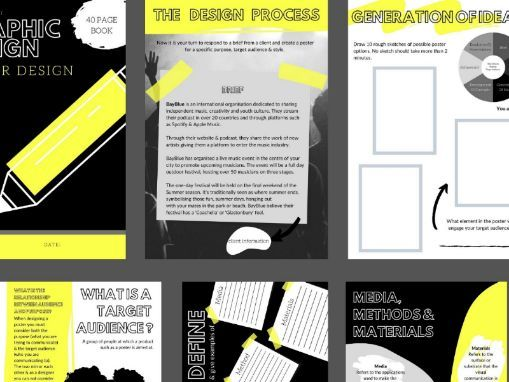 40 page Graphic Design | Poster Design | The Design Process | Remote Learning Booklet