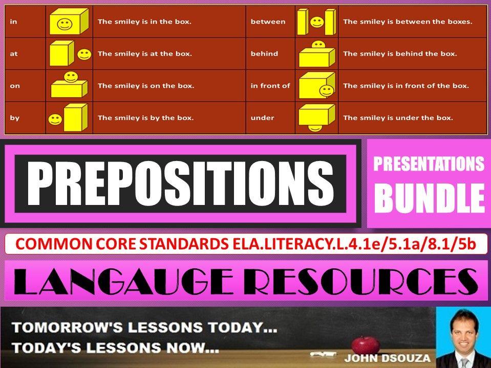 PREPOSITIONS LESSON PRESENTATIONS BUNDLE