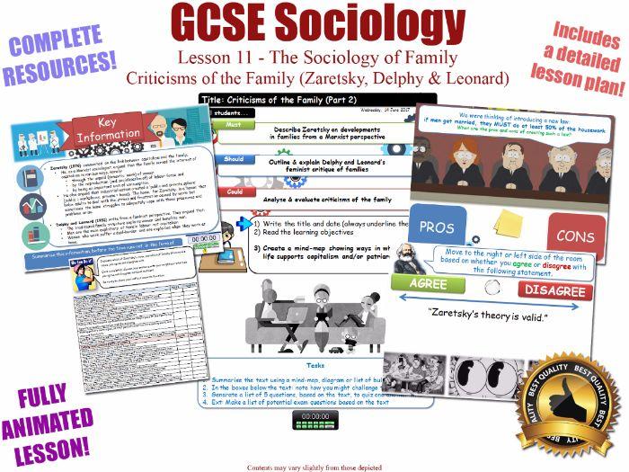 Zaretsky, Delphy and Leonard - Criticisms of the Family (II)- L11/20 [ AQA GCSE Sociology - 8192]