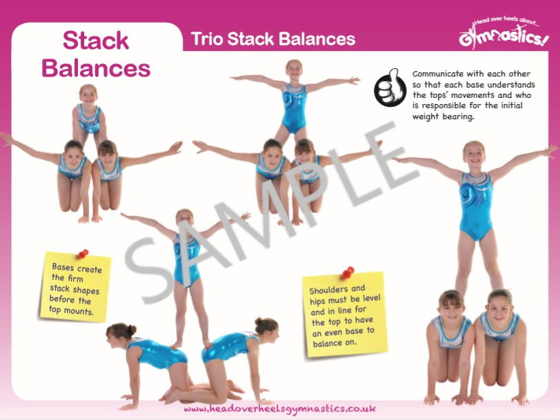 Gymnastics Pair and Trio Balances - Stack Balances