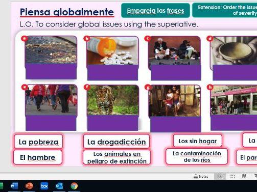 GCSE SPANISH Module 8 Piensa Globalmente