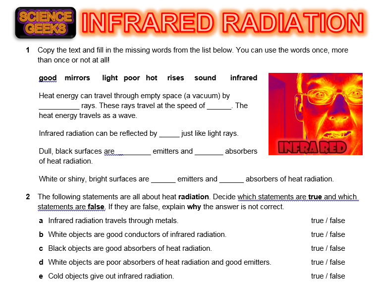 KS3 PHYSICS HEAT TRANSFER - Infrared Radiation