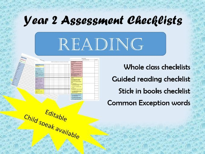Year 2 Reading assessments key objectives