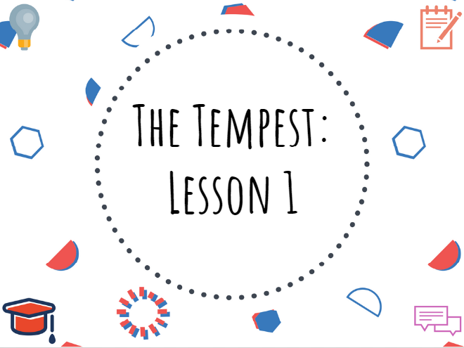 The Tempest Introductory Lesson #TheTempest #Shakespeare #GCSE