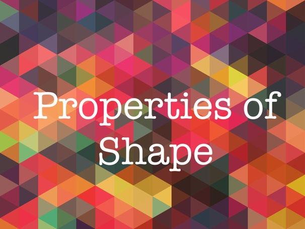 Properties of Shape - Maths Starter