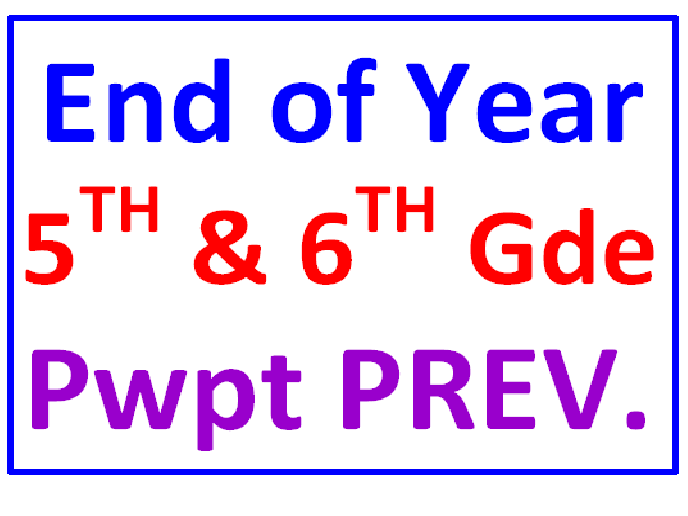 End of the Year 5th and 6th Grade FREE PREVIEW PowerPoint Trivia Fun Quiz