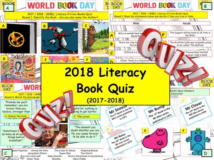 World Book Day 2018 Quiz
