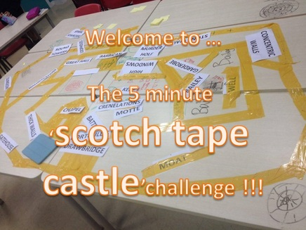 The 5 minute scotch tape castle challenge