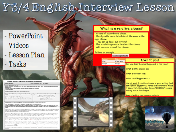 Outstanding Y5 Relative Clause Interview Lesson