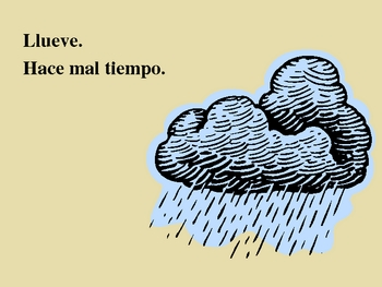 Tiempo (Weather in Spanish) power point