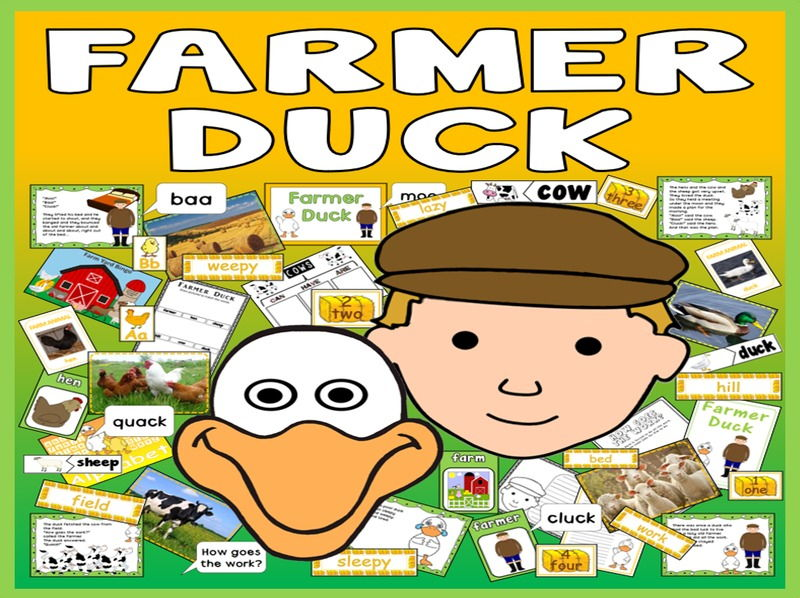 FARMER DUCK STORY TEACHING RESOURCES EYFS KS1 ENGLISH LITERACY SCIENCE ANIMAL