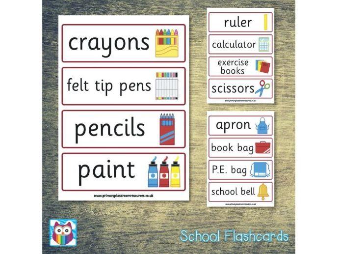 School Role Play Flashcards