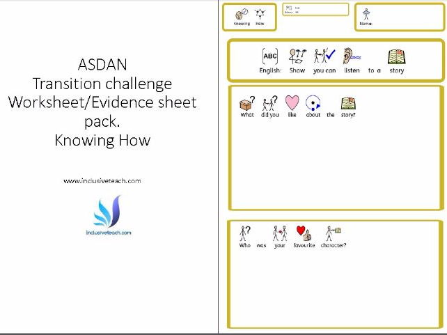 ASDAN Knowing How Worksheet/Evidence Sheet pack.