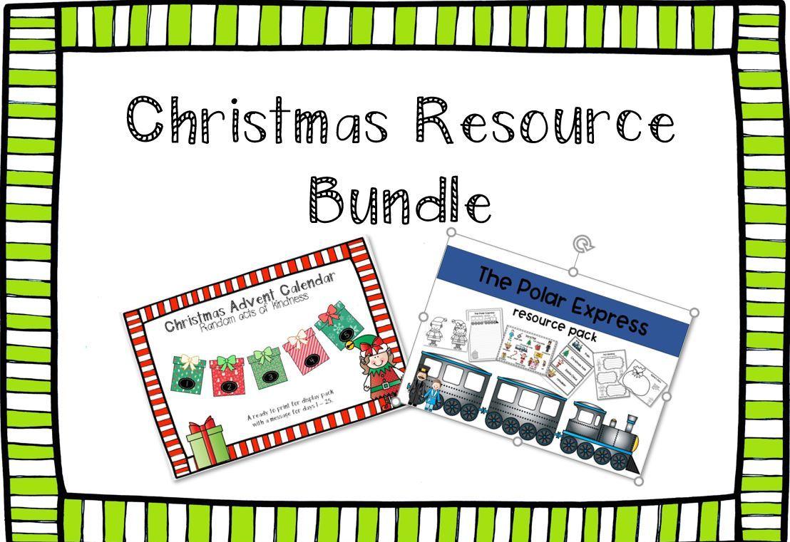 Christmas Bundle - The Polar Express and The Christmas Advent Calendar Resource Pack