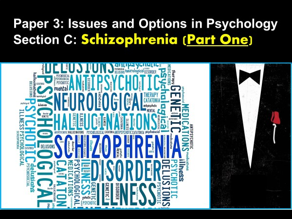 AQA A-Level Psychology: Year 2 . SCHIZOPHRENIA (Part 1)     Paper 3: Issues and Options / Section C