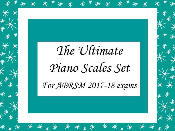 Complete Piano Scales Cards for ABRSM Exams 2017-18 Grades 1 to 8