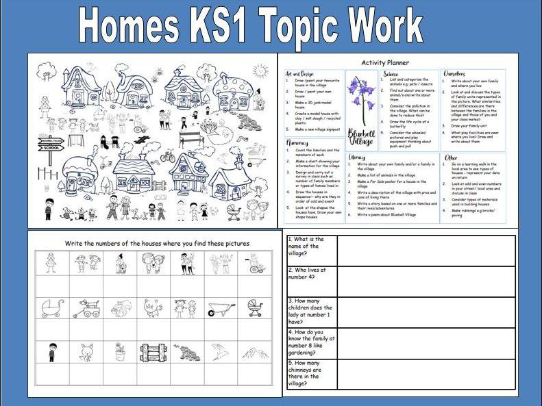 Homes KS1 Topic Work